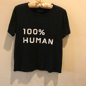 Everlane 100% Human Box-Cut Tee, S